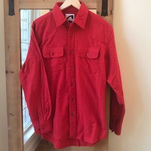 Mountain Khakis Red Flannel Button Down Shirt